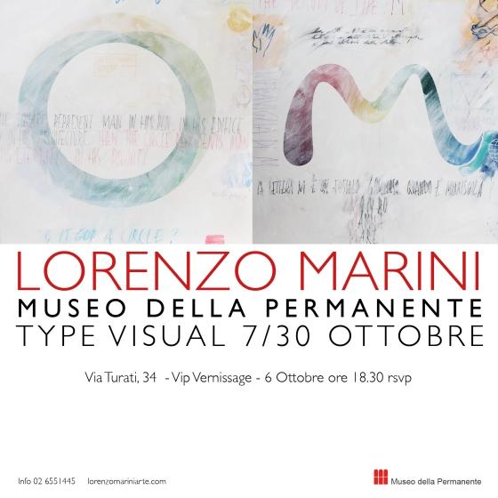 Lorenzo Marini Typevisual alla Permanente di Milano