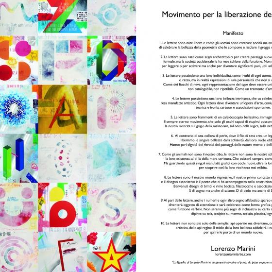 Movimento per la liberazione delle lettere – Manifesto